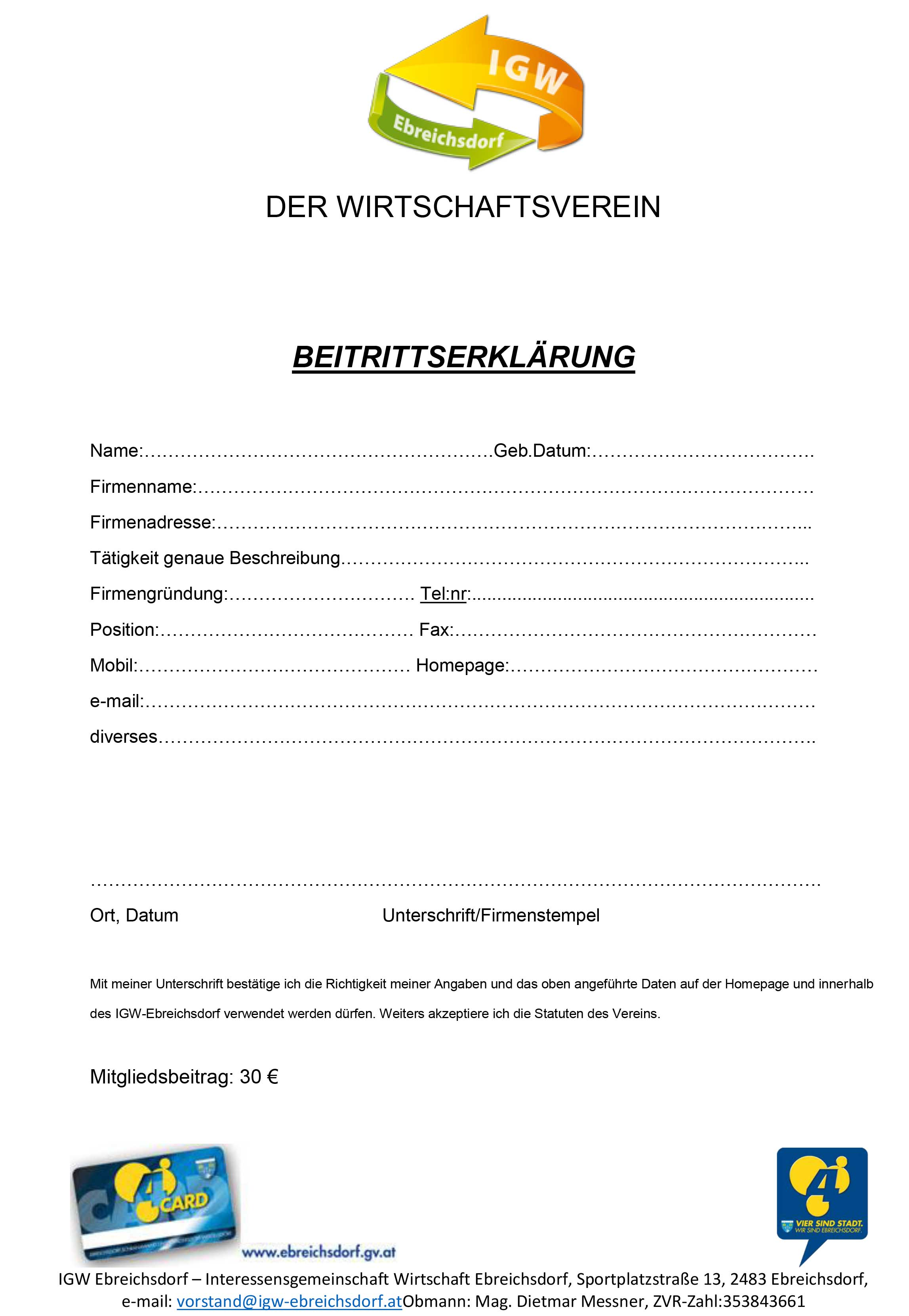 Download Beitrittsformular